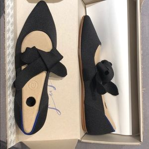 Rothys black Mary Jane with bow